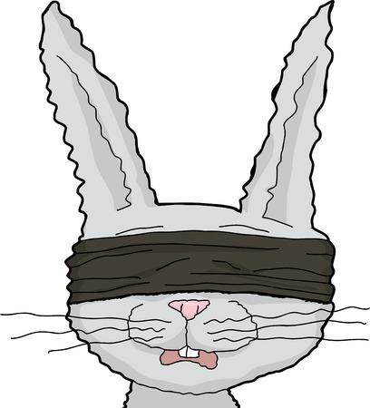 Isolated fuzzy cartoon rabbit over white background Illustration