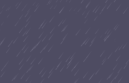 meteor shower: Cartoon background of falling rain and dark sky