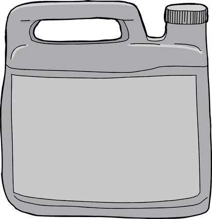 unprinted: Individual aislado pl�stico gen�rico recipiente detergente para la ropa
