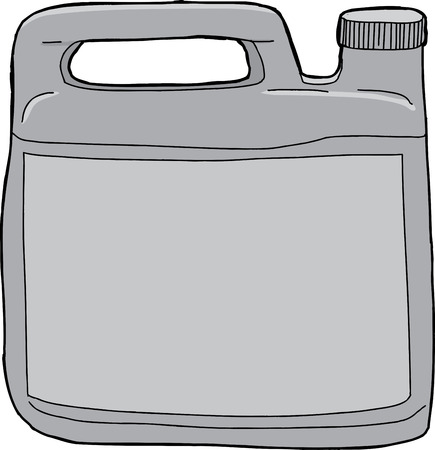 unprinted: Single isolated generic plastic laundry detergent container Illustration