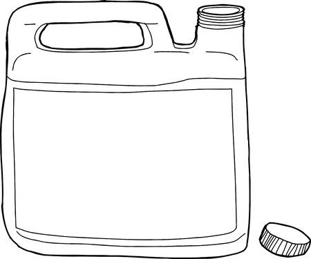 unprinted: Esboz� pl�stico gen�rico recipiente del detergente de lavander�a abierta