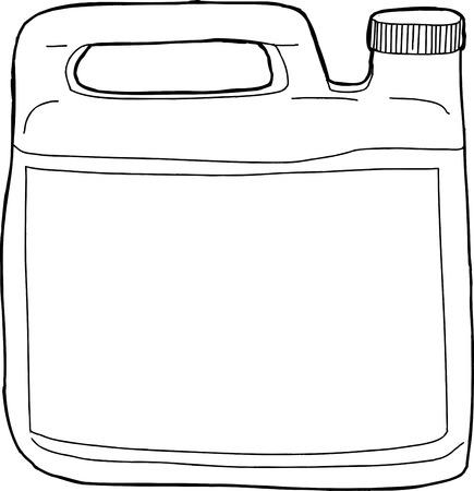 unprinted: Un pl�stico gen�rico recipiente detergente esbozado