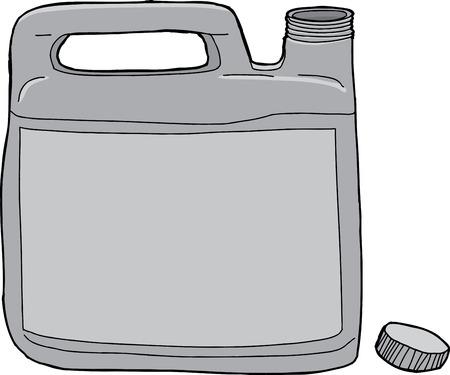 unprinted: Gen�rico envase de pl�stico de detergente de lavander�a con tapa abierta Vectores