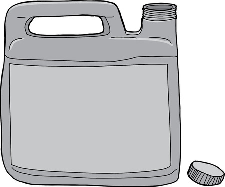 Generic plastic laundry detergent container with open lid