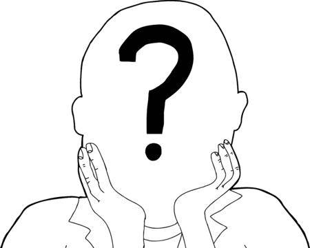 Outline of anonymous person with question mark