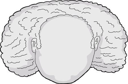 cabeza femenina: Blank avatar de dibujos animados de la cabeza femenina con el pelo rizado Vectores