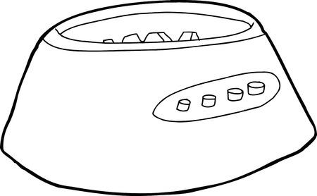 blender: Outline blender motor base over white background