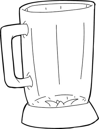アウトライン図としてミキサー jar ファイルを単一の開いているガラス
