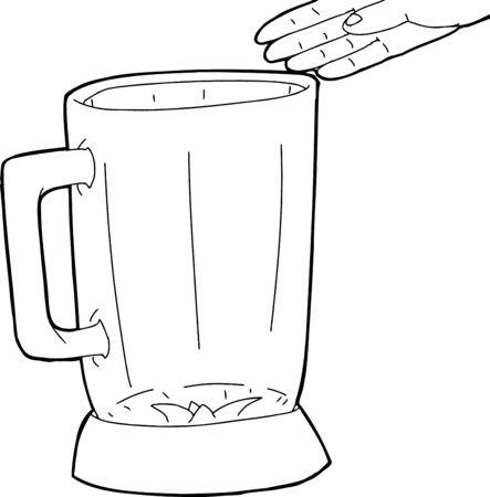 描画の手を引き渡す空ミキサーの概要  イラスト・ベクター素材