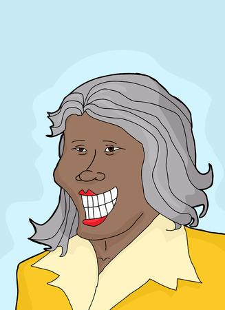 mature: Single mature female businesswoman with big smile