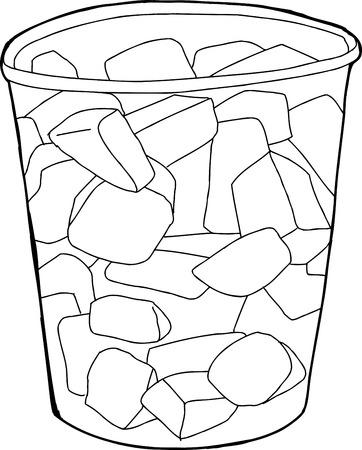 chunk: Single plastic cup cartoon of melon pieces