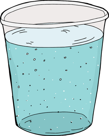 carbonated: Illustration of single plastic cup of carbonated water Illustration