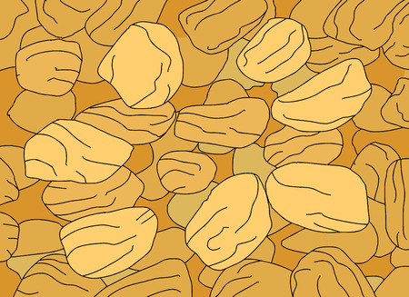 raisin: Close up cartoon of golden dried fruit