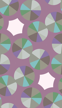 Seamless background pattern of compact disks over purple Vector
