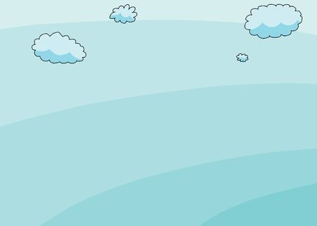 clouds: Hand drawn cartoon blue sky with clouds background