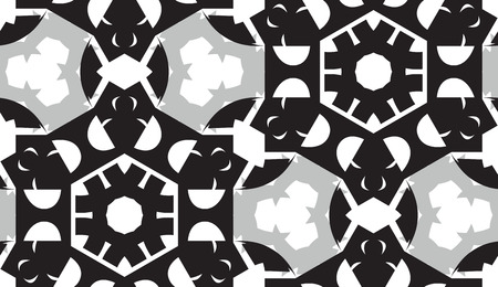 Seamless background pattern of gray and black geometric shapes