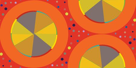 spinning: Seamless background pattern of spinning wheels over red