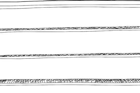 Hand drawn illustration of empty book shelf