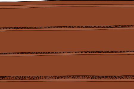 Cartoon of an empty brown wooden shelf
