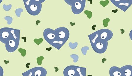 heartsick: Relanzar el modelo de s�mbolos del coraz�n afligido sobre verde