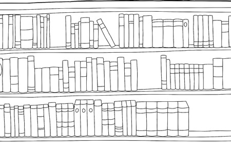 Illustration outline of various blank books over white