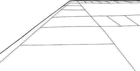 Hand draw cartoon of sidewalk corner over white Stock Vector - 40261636
