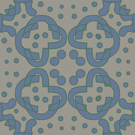 Seamless symmetry of blue and gray lines