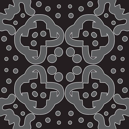 symmetry: Seamless symmetry of gray shapes over black