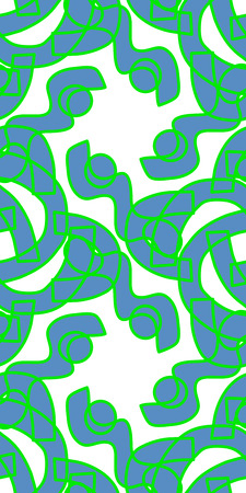 segmented: Seamless abstract background pattern of segmented green shapes