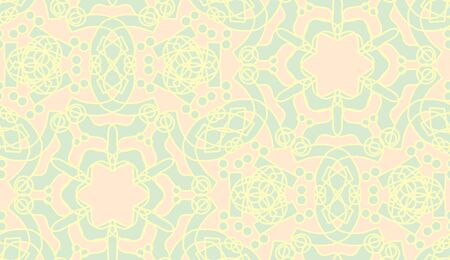 star shapes: Pink kaleidoscope star shapes and outlines in seamless pattern
