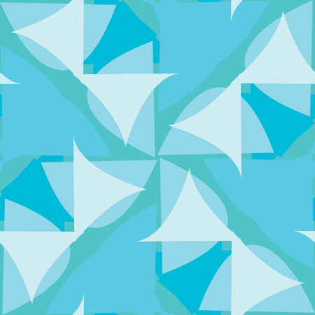 Abstract seamless background pattern of blue triangular shapes Иллюстрация