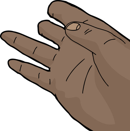 Isolated cartoon of human hand with missing fingers  イラスト・ベクター素材