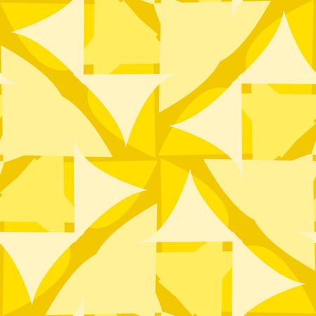 Abstract repeating background pattern of yellow triangular shapes Иллюстрация
