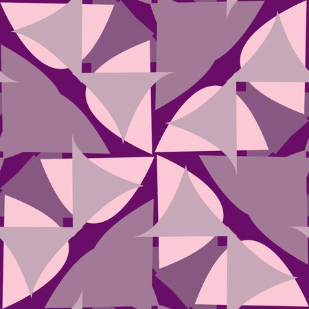 Abstract repeating background pattern of purple triangular shapes Иллюстрация