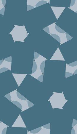 kaleidoscope: Blue rectangular shapes in kaleidoscope seamless background