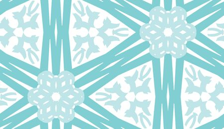linked: Repeating background kaleidoscope pattern of linked blue lines