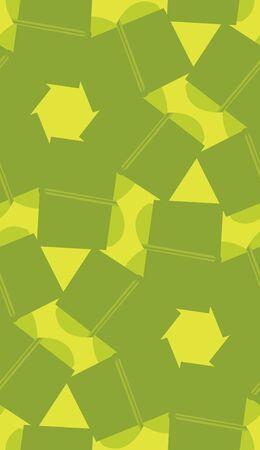 Green rectangular shapes in kaleidoscope seamless background Иллюстрация