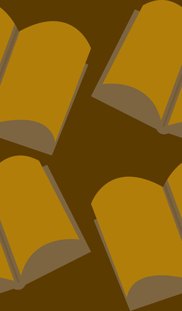 Seamless background pattern of open brown books