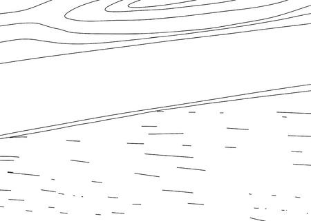 Outlined wood panel sketch with copy space Ilustração