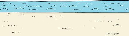 shoreline: Empty ocean shoreline with white background