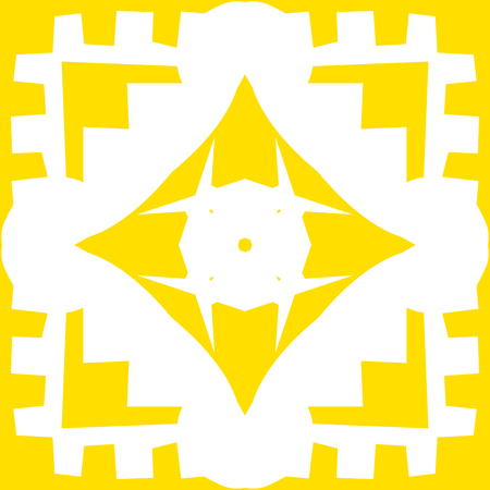 Repeating yellow square and diamond shape background pattern Иллюстрация