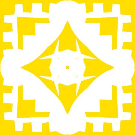 diamond shape: Repeating yellow square and diamond shape background pattern Illustration