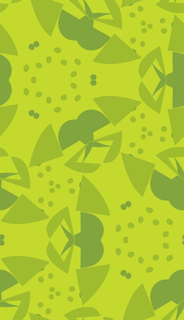 green wallpaper: Green wallpaper pattern of seeds and triangular shapes