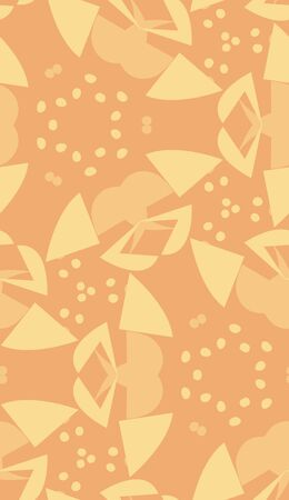 brown wallpaper: Brown wallpaper pattern of seeds and triangular shapes Illustration