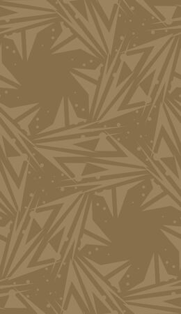 spinning: Seamless brown spinning star shaped background pattern