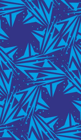 spinning: Repeating spinning blue star shaped background pattern Illustration
