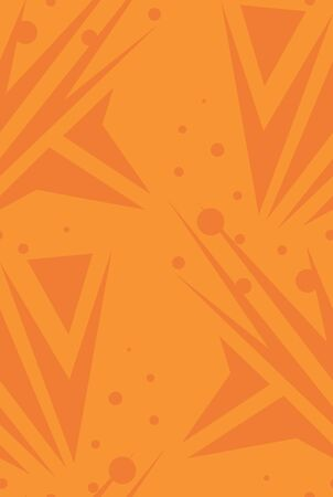 arrows background: Orange abstract arrows and dots in seamless background pattern Illustration