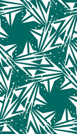 spinning: Green repeating spinning star shaped background pattern