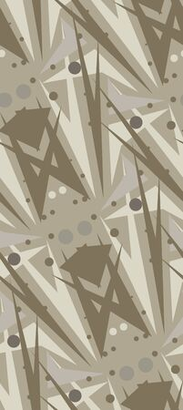 Brown abstract seamless pattern of rectangles and lines