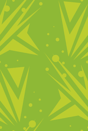 pointed arrows: Abstract green arrows and dots in seamless background pattern Illustration